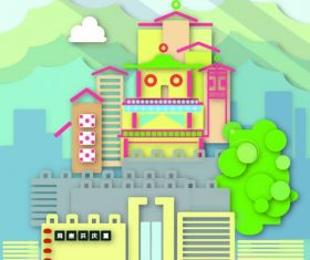 Cityscape creative illustration vector 03