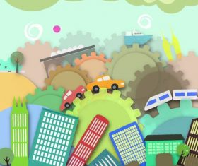 Cityscape creative illustration vector 04