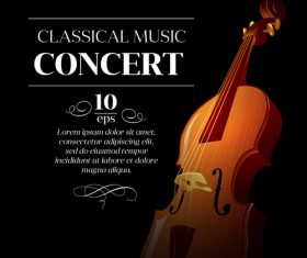 Classical music background vector material