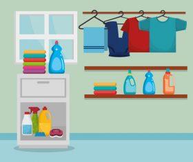 Cleaning housework design vector illustration 01