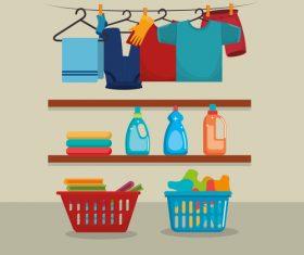 Cleaning housework design vector illustration 02