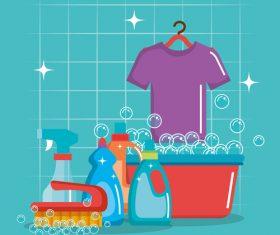 Cleaning housework design vector illustration 03