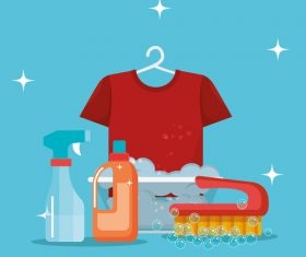 Cleaning housework design vector illustration 05