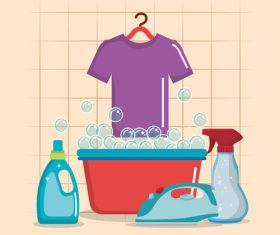 Cleaning housework design vector illustration 06