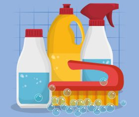 Cleaning housework design vector illustration 09