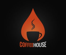 Coffee house logo vector material 01