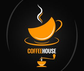 Coffee house logo vector material 02