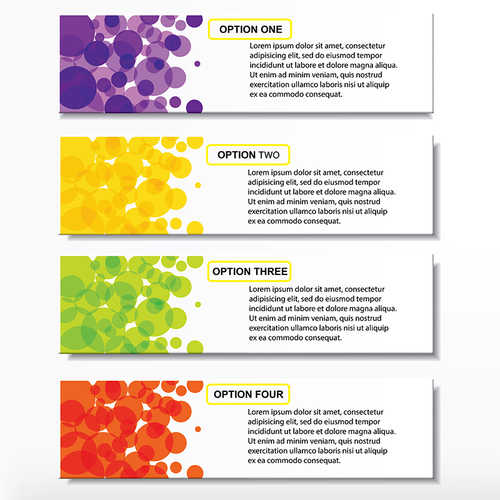 Colored abstract banners vectors template