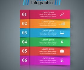 Colored banners option infographic vector