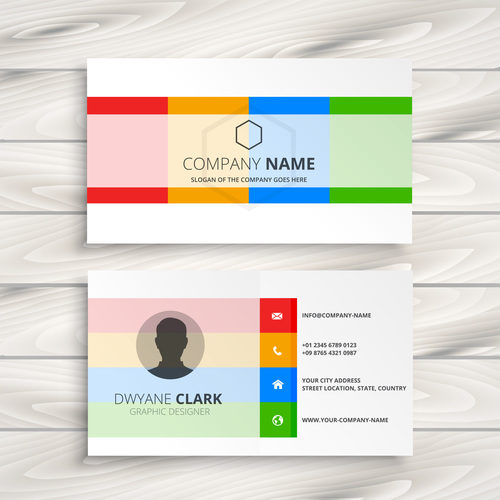 Colored Business Card Template Creative Vector Free Download,Watercolor Small Simple Owl Tattoo Designs