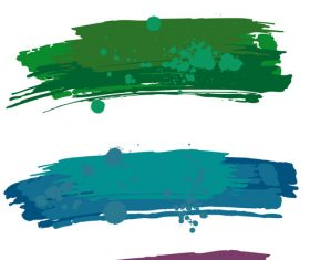 Colored paint stains brush vector illustration