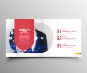 Company brochure template design vectors 01