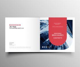 Company brochure template design vectors 02