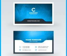 Company business card template blue vector 14