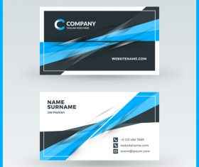 Company business card template blue vector 15