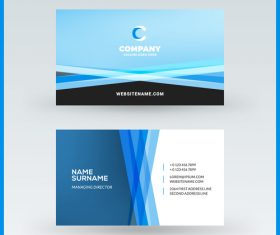Company business card template blue vector 16