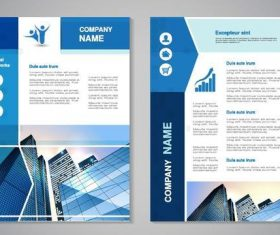 Compeny brochure cover template blue vector