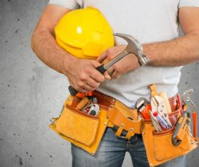 Construction workers and kits Stock Photo 04