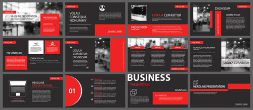Creative company brochure template vector 01