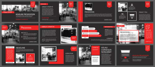 Creative company brochure template vector 02