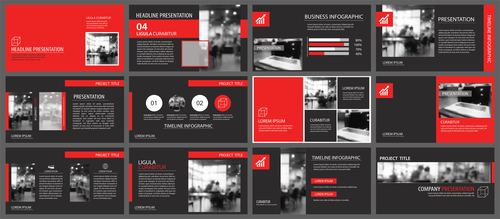 Creative company brochure template vector 04
