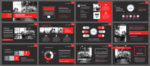 Creative company brochure template vector 06