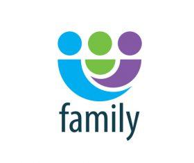 Creative family logos vector material 01