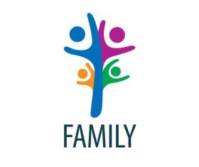 Creative family logos vector material 02