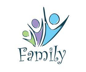 Creative family logos vector material 03