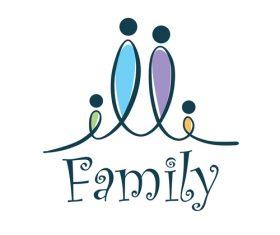 Creative family logos vector material 04