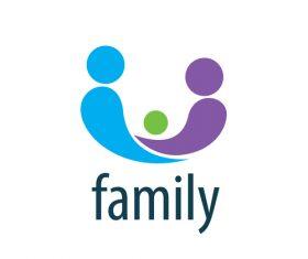 Creative family logos vector material 05