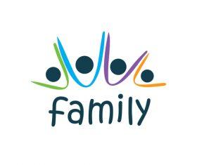 Creative family logos vector material 06