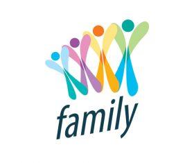 Creative family logos vector material 07