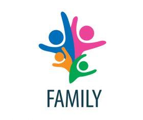 Creative family logos vector material 09