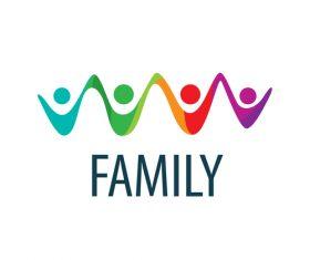 Creative family logos vector material 10