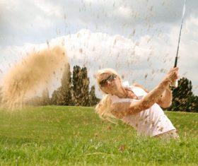 Cut up golf Stock Photo