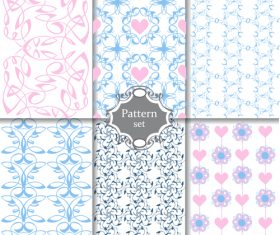 Cute Pink and blue Patterns paper or scrap booking vector