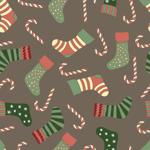 Cute Christmas Patterns Seamless Vectors 60 Free Download Beauteous Christmas Patterns