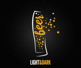 Dark light beer logo vector 04