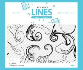 Decor lines Photoshop Brushes