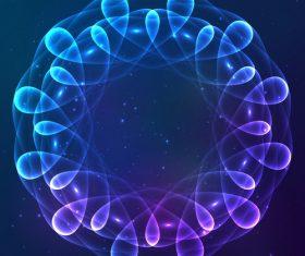 Dream cosmic blue flower vector 03