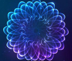 Dream cosmic blue flower vector 06