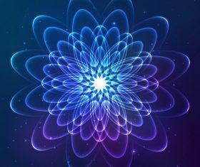 Dream cosmic blue flower vector 07