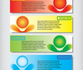 Eco colored banners vectors