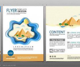 Egyptian Pyramids flyer design template vector