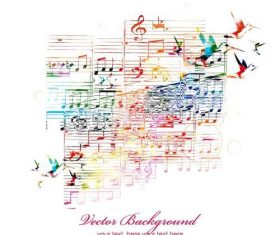 Elegant music background design vector 01