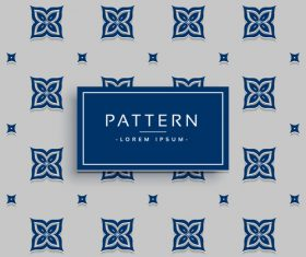 Elegant pattern template design vector 02
