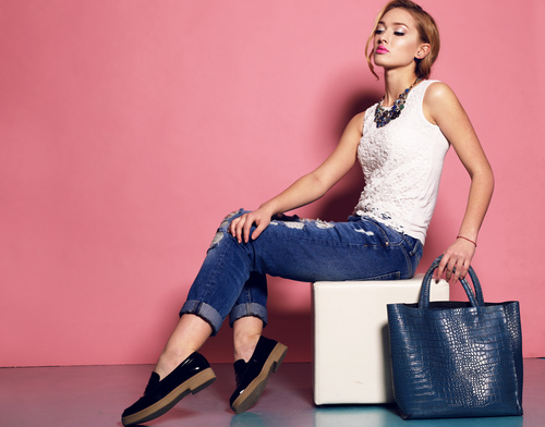 Fashion Pretty Clothing Model Stock Photo 03