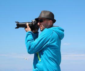 Fashion male photographer Stock Photo