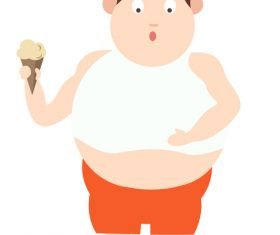Fat man cartoon image vector